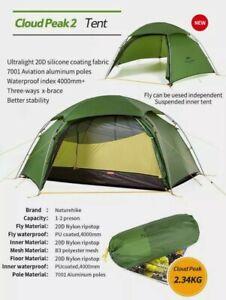 Naturehike Cloud Peak 2 - 4 season 2 person backpacking tent with footprint