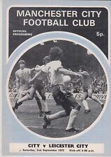 Programma / Programme Manchester City FC v Leicester City 02-09-1972