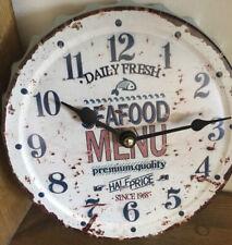 Novelty kitchen wall clock sea food fish shop decorative wall plaque wall art
