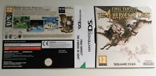 Nintendo Ds Final Fantasy The 4 Heroes Of Light Cover Only Sleeve Inlay Promo