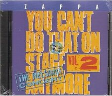 CD FRANK ZAPPA YOU CAN'T DO THAT ON STAGE ANYMORE VOL 2 neuf (4188)