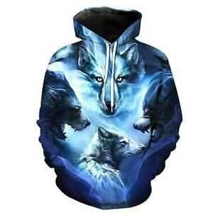 Alpha Stone Cold Wolves 3D Print Hoodie