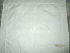 New ListingPottery Barn 2 Euro Pillow Sham 30x30'Embroidered Manogrammed White