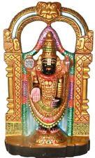 "Marble Carved Venkateshvara Tirupati Jai God Statue 14.9""Figure Hand Craft 6.6KG"