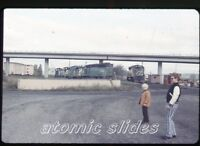 1975 35mm photo slide  Railroad train  Burlington Northern 6400 6417  RR72