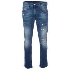 Replay Indigo, Dark wash Skinny, Slim 32L Jeans for Men