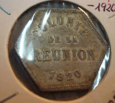 ILE-DE-LA-REUNION ** 25-CENTIMES **1920 ** ANCIENNES COLONIES **TRES RARE**
