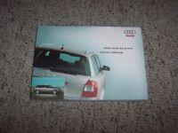 2004 Audi A4 Quattro Avant Wagon Owner Operator Manual User Guide 1.8T 3.0L AWD