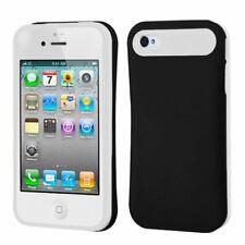 MyBat Apple iPhone 4s/4 Rubberized Card Wallet Black/White