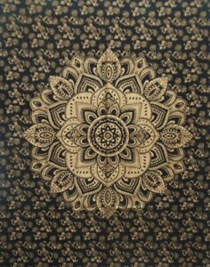 Tapestry Black Gold Hippie Wall Hanging Home Decor Table Cover Poster Bohemian