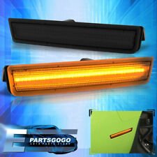 For 15-20 Dodge Challenger Amber LED Smoke Lens Front Bumper Side Markers Lights