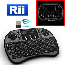 Rii i8+ 2.4GHz Mini Wireless Backlit Keyboard w/ Mouse PC Smart TV Android TV Bx