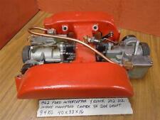 $399 US Ford Interceptor Y Block 292 312 Intake & Dual YH Side Draft Carburetors