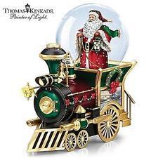 THOMAS KINKADE Santa Claus Coming To Town Mini MUSICAL Snowglobe TRAIN NEW