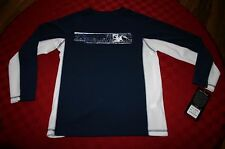 BOYS ZEROXPOSUR QUICK DRY L/S SHIRT NAVY BLUE & WHITE YOUTH SMALL 8 NWT $28