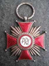 Verdienstkreuz der Republik Polen Orden 1960er Jahre Srebrny Krzyż Zasługi