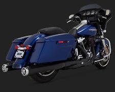 """Vance and Hines 4"""" Monster Slip On Mufflers Black For Harley 2017-18 FL Models"""