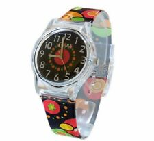 Core Girls Designer Black Dial With Orange, Red & Yellow Geometric Plastic Watch