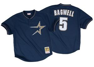 MITCHELL & NESS HOUSTON ASTROS MESH AUTHENTIC BP JERSEY #5 JEFF BAGWELL