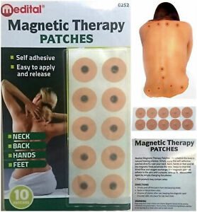 10pc MAGNETIC THERAPY PAIN RELIEF BODY MAGNETS PATCHES PLASTERS NATURAL HEALING