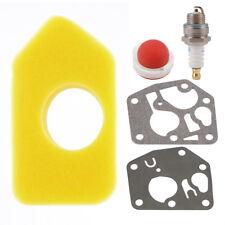 Primer Bulb+Carburetor Diaphragm Gasket+Spark Plug for Briggs and Stratton BI697