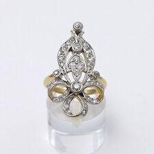 VICTORIAN 18K GOLD & PLATINUM .75ctw ROSE CUT & MINE CUT DIAMOND RING Sz 6