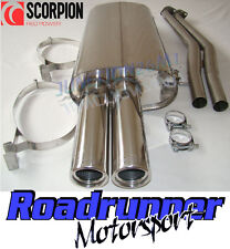 Scorpion EXHAUST BMW 320i E30 (88-91) Inoxydable moitié System inc CABRIO & Touring