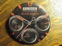 Tudor Geneve Black Shield Swiss Made Wrist Watch Advertisement Lapel Button Pin