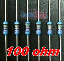 100pcs x 100 Ohm 1/4W Resistors for LEDs 100R 100-R