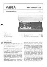 Wega Service Manual für studio 3231
