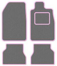 Triumph Herald / Vitesse  Super Velour Light Grey/Pink Trim Car mat set