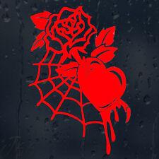 Beautiful Flower Web Rose Bloody Heart Car Decal Vinyl Sticker