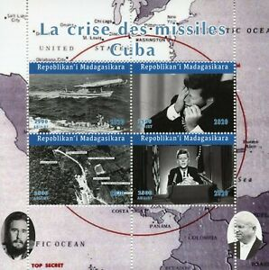 Madagascar JFK Stamps 2020 CTO John F Kennedy Cuban Missile Crisis Ships 4v M/S