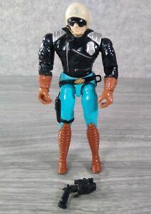 "Cops N Crooks C.O.P.S. Highway Patrolman 6"" Figure + Gun / Pistol Hasbro 1988"