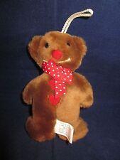 "North American Bear #7054 Ginger Bear 1988 Christmas Ornament 4.75"" NWT"