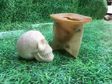 LATEX ONLY MOULD SKULL 14CM TALL ORNAMENT MOULD
