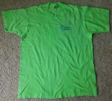 HEARTBEAT OF AMERICA CHEVROLET EMBROIDERED TEE T-SHIRT NEON GREEN ADULT XL*NWOT*