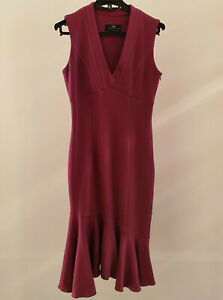 Cue Fitted Midi Dress Size 8