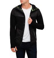 Superdry Hoodie Hybrid Sport Training Jacket - Black - Save 50% - Clearing Stock