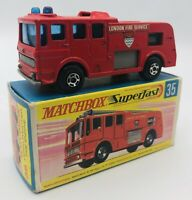 Matchbox Superfast #35 Merryweather Fire Engine Boxed Vintage