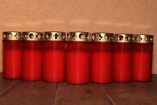 40 Grabkerzen rot T3 mit Golddeckel Grabkerze Grablicht Grab Grablichter Nr.3