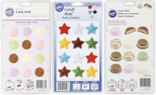 Wilton Petite Candy Molds- Lot 3 Swirl, Cup, Stars Chocolate