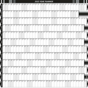 2022 - 12 MONTH YEARLY WALL PLANNER/Square - CALEND /PERS/BUS 9 COLOURS 5 SIZES