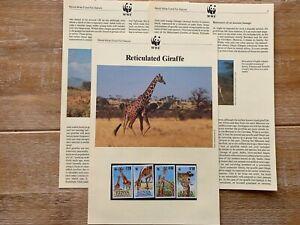KENYA 1989 PAGES x 6 MNH WWF GIRAFFES
