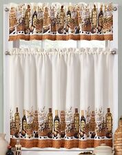 Tuscany Olive Oil Kitchen Curtains Tier and Valance Set
