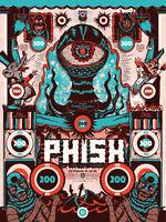 2016 Phish Jacksonville, FL 10/16 Poster by Your Cinema AP#/45 not pollock print