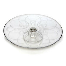 "WATERFORD BALLET ICING Crystal 12""  footed CAKE PLATE  NEW / BOX"
