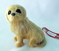 Golden Yellow Maltese Blonde Ornament Dog Christmas Puppy Hair NEW Realistic