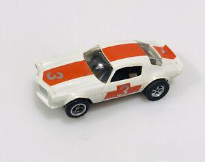 aurora afx chevy camaro red/white #3 ho slot car