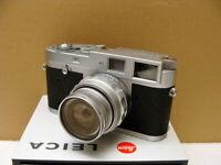 "Leitz Wetzlar - Leica M1 Kit Fat Elmar-M 1:4/90mm ""intaktes L-Siegel"" - RAR!"